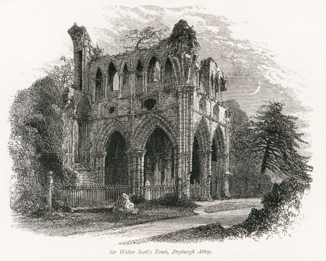 Dryburgh Abbey, Sir Walter Scott's Tomb