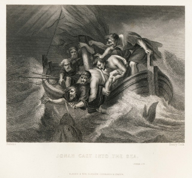 Jonah cast into the sea by Rubens