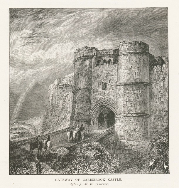Carisbrook Castle after J. M. W. Turner