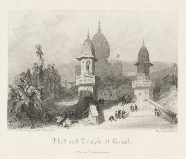 Ghat and Temple at Gokul
