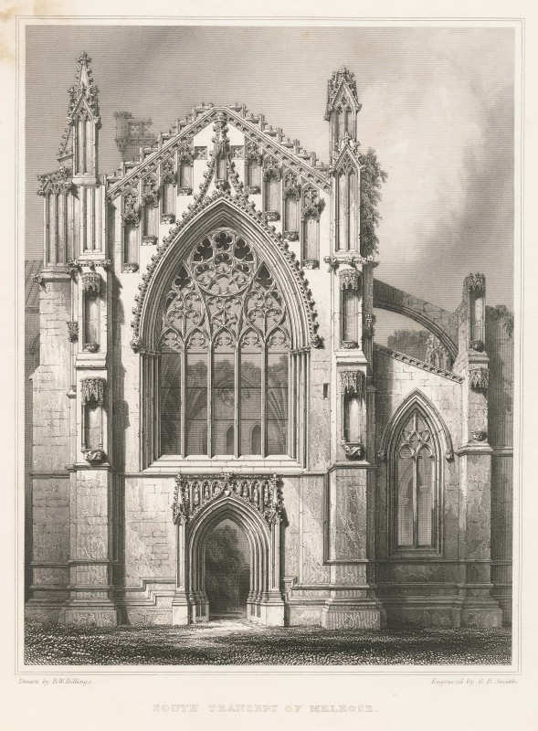 South Transept of Melrose Abbey