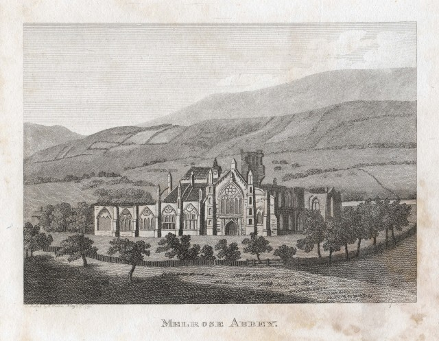 Melrose Abbey - Francis Grose