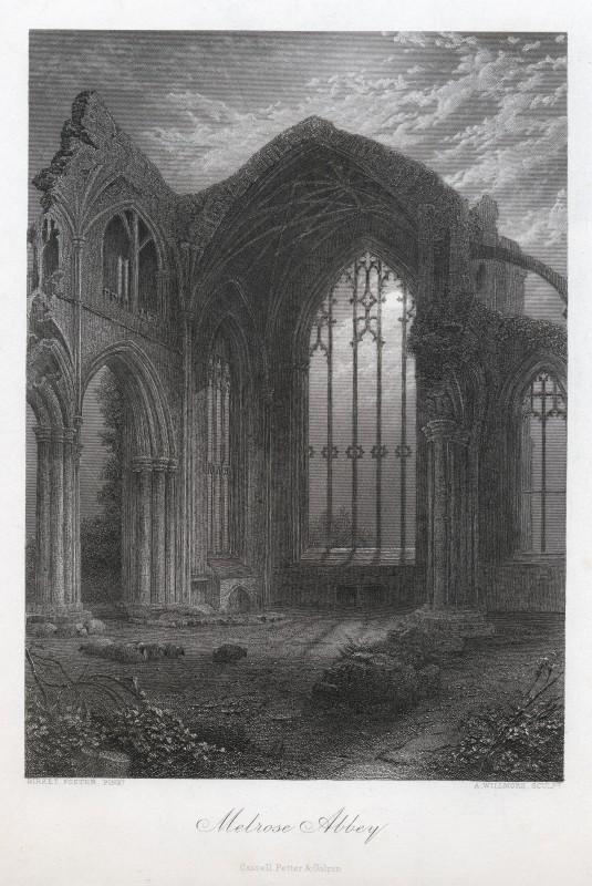 Melrose Abbey - Birket Foster